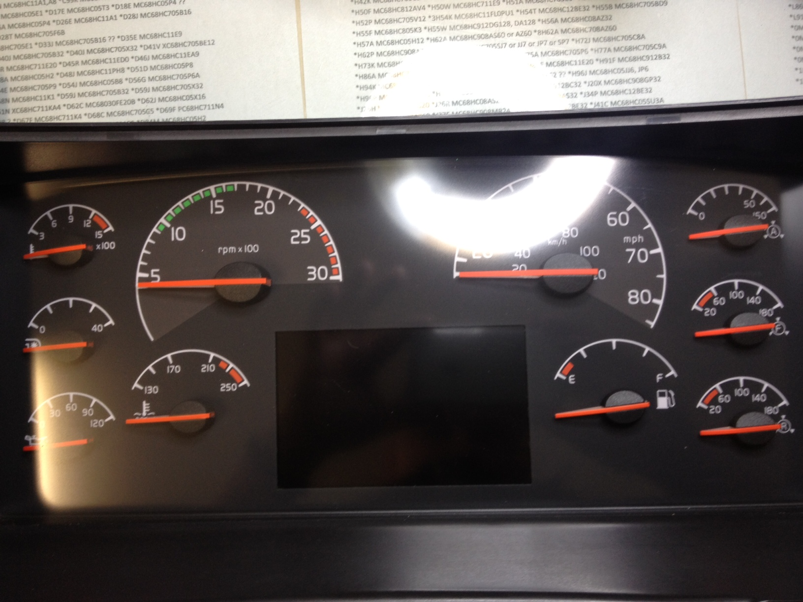 Semi Truck Gauges Volvo Dash Wiring Images Of
